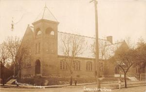 E84/ Carrollton Ohio RPPC Postcard Carroll Co c1910 Presbyterian Church 15