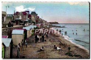 Old Postcard Calvados Beach at high tide