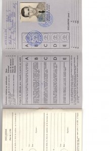 Royal Canadian Air Force French International Driver's Permit, 1962 Licence