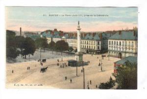 La Place Louis-XVI, Prise De La Cathedrale, Nantes (Loire Atlantique), France...