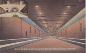 Pennsylvania Turnpike View Of One Of The Tunnels 1952