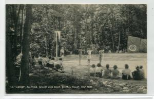 Archery Airport Playfield Summit Lake Camp Central Valley New York 1938 postcard