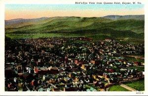 West Virginia Keyser Birds Eye View From Queens Point Curteich