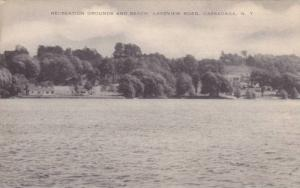 Recreation Grounds And Beach, Lakeview Road, Cassadaga, New York, 1910-1920s