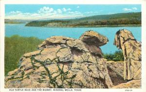1920s Postcard Old Turtle Back & the Mummy, Mineral Wells TX Palo Pinto County?