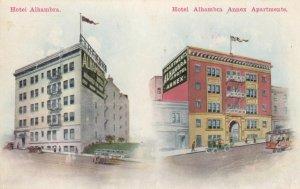 LOS ANGELES, California, 1900-10s; Hotel Alhmbra & Hotel Alhambra Annex Apart...