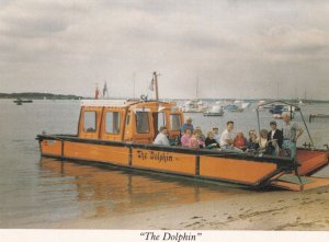 Dorset Help The Disabled Dolphin Ship Poole Harbour Boat Trips Postcard