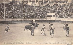 Course De Taureaux, Tarjeta Postal, Bullfighting Postcard Unused