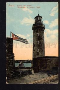 048435 CUBA LIGHTHOUSE in Morro Castle Vintage PC