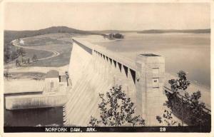 Northern Arkansas birds eye view showing Norfolk Dam real photo pc ZA440404