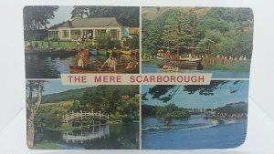 Vintage Multiview Postcard The Mere Scarborough Posted 1978