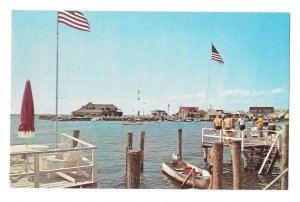 Stone Harbor NJ Yacht Club Snug Harbor Bay Vintage Harold Hemming Postcard