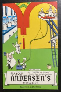 Mint Usa Advertising Picture Postcard Pea Soup Andersen Restaurant Buellton CA