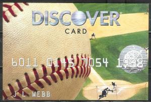USA 2008, Discover Card Advertising card - Baseball, unused