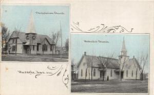Waverly Kansas~Presbyterian Church~Methodist~Art Nouveau~1908 CU Williams PC