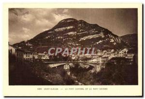 Old Postcard Saint Claude Central Bridge and Mount Bayard