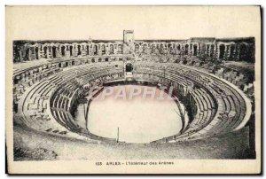 Old Postcard Arles L & # 39Interieur des Arenes