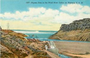 Boysen Dam in the Wind River Canyon Wyoming WY Chrome