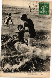 CPA BERCK-PLAGE - Aux bains de mer (196714)