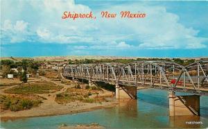 Bridge1950s Shiprock New Mexico Navajo Indian County Petley postcard 9338