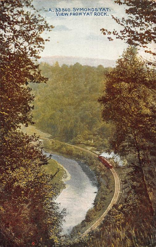 Symonds Yat View from Yat Rock River Train Locomotive Postcard