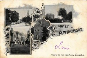 CPA Groet uit APPINGEDAM NETHERLANDS (706307)