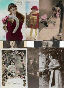 Beautiful Fantasy Women Art Nouveau Mixed Postcard Lot of 20  01.15