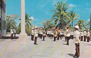 Changing of the guard ceremony, Government House, Nassau in the Bahamas, 40-60s