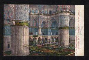 060321 CONSTANTINOPLE Mosquee Sultan Ahmed Interior Vintage PC