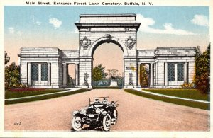 New York Buffalo Forest Lawn Cemetery Main Street Entrance