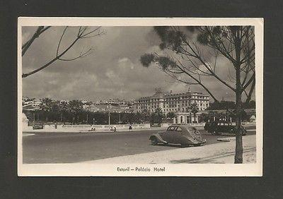 REAL PHOTO POSTCARD 1940 years ESTORIL hotel hotels cars ...