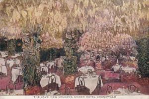 Louisiana New Orleans The Cave Restaurant Under Hotel Grunewald 1915
