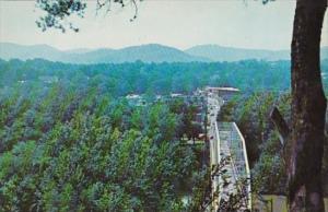 Kentucky Williamsburg Panoramic View Looking Across Bridge At Business District