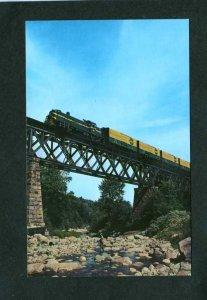 VT Rutland Railway Railroad train on Cuttingsville Trestle Bellows Fall Postcard