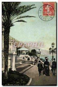 Old Postcard Monte Carlo terraces