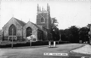 Spilsby Parish Church Street Vintage Car Eglise Postcard