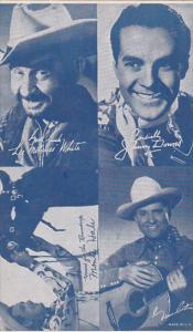 Cowboy Arcade Card Lee Molasses White Johnny Downs Monte Hall Gene Autry