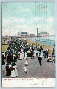 Postcard NJ Wildwood c1908 View Boardwalk on Easter Sunday U10