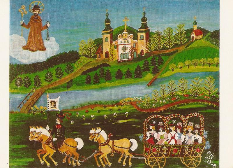 Procession in honor of St. Leonhar patron of Horses Modern PC