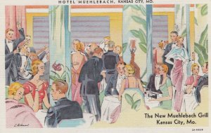 KANSAS CITY - Missouri , 1930-40s ; Hotel Muehlebach - The New Grill