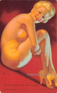 My Own, Thanks 1945 Mutoscope Artist Pin Up Girl, Non Postcard Backing Unused