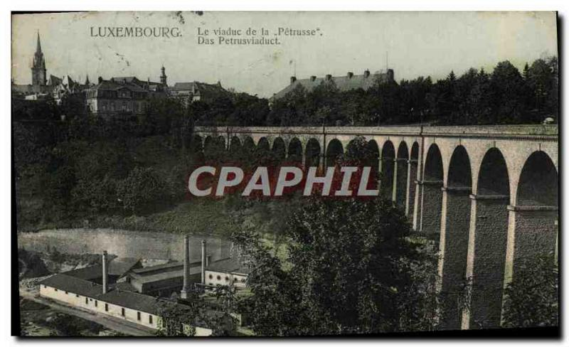 VINTAGE POSTCARD Luxembourg the Viaduct Of Petrusse