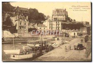 Old Postcard Dinard Porte d Emeraude boat