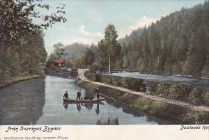 Boating, Dalslands Kanal, Fran Sveriges Bygder, Sweden, 1900-1910s