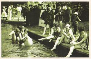 Postcard Nostalgia 1926 London's Palm Beach Hampton Court River Thames Repro