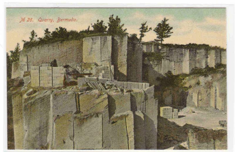 Rock Quarry Bermuda 1910c postcard