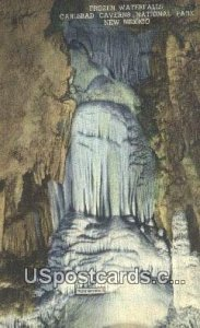 Frozen Waterfall in Carlsbad Caverns National Park, New Mexico