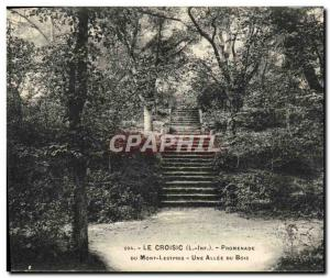Old Postcard Croisic Promenade Du Mont Lestpris A Allee Du Bois