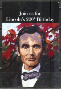 US President - Abe Lincoln - 200th birthday celebration, unused