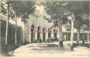 Postcard Old Vichy Rest Salon Entree (Garden of the Hospital)